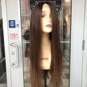 Accessories - Wig Long Warm Brown ombré middlePart Lacefront Wig